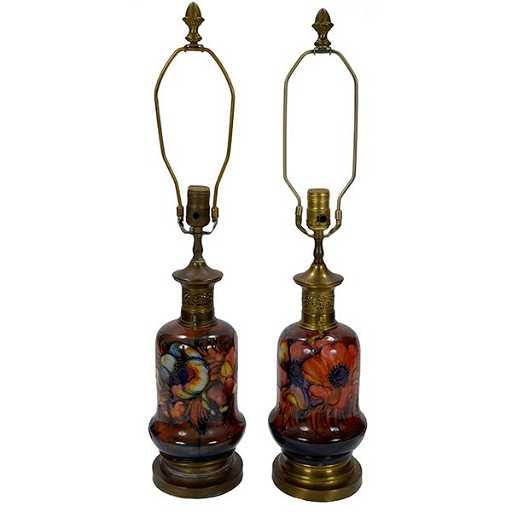 Moorcroft table lamp bases poppy design aloadofball Choice Image