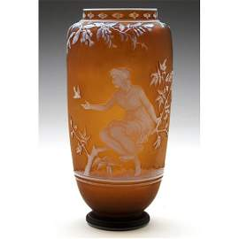 Thomas Webb & Sons vase, signed by G. Woodall
