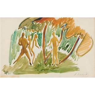 Aaron Douglas (American, 1899-1979) Figures in a