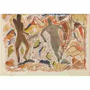 Aaron Douglas (American, 1899-1979) Two Figures