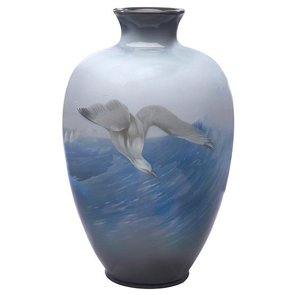 Rookwood vase, Carl Schimdt, 1908, Iris