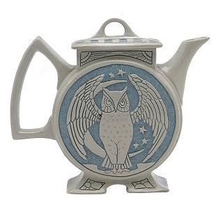 Roseville Pottery Co., Rozane Ware, Della Robbia teapot