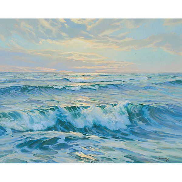 Charles Vickery, (American, 1913-1998), Long Waves of