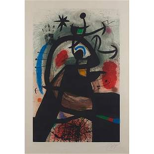Joan Miro, (Spanish, 1893-1983), Le Permissionnaire