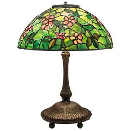 Tiffany Studios, Apple Blossom table lamp, New York,