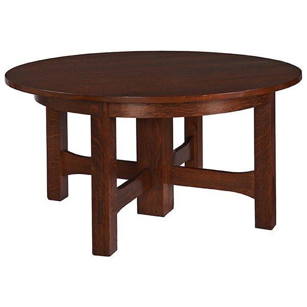 "Gustav Stickley dining table, #634 60""dia x 29""h"