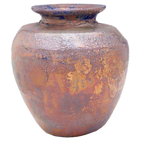 "Pewabic vase 8""w x 8.5""h"
