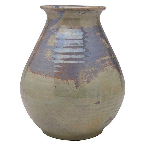"Pewabic vase 8""w x 9.5""h"
