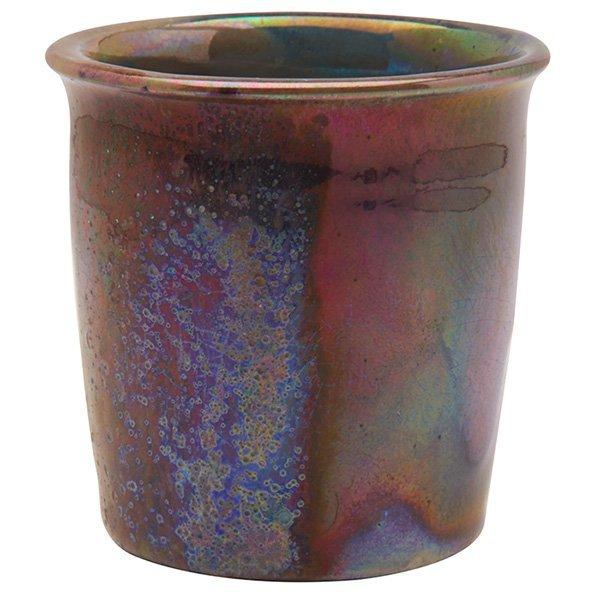 "Pewabic miniature vase 2.75""dia x 2.75""h"