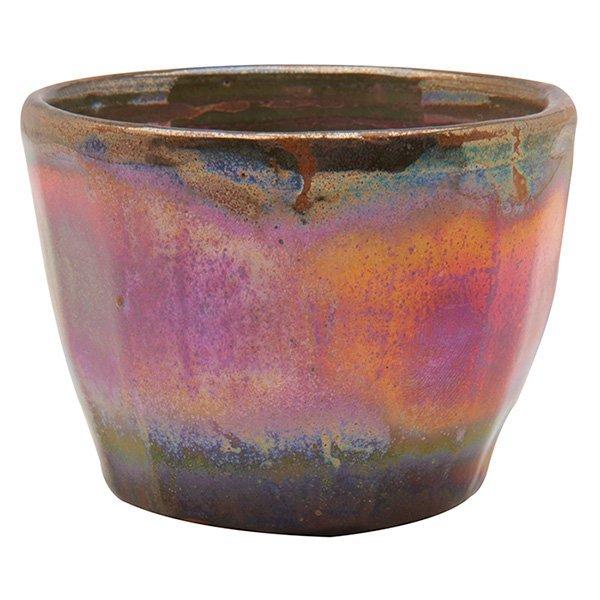 "Pewabic miniature vase 3""dia x 2.25""h"