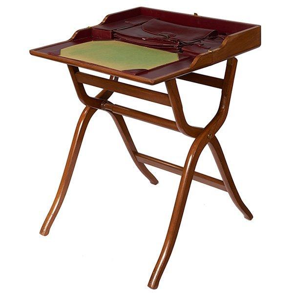regency period folding campaign desk 24u201dw x 7u201dd x