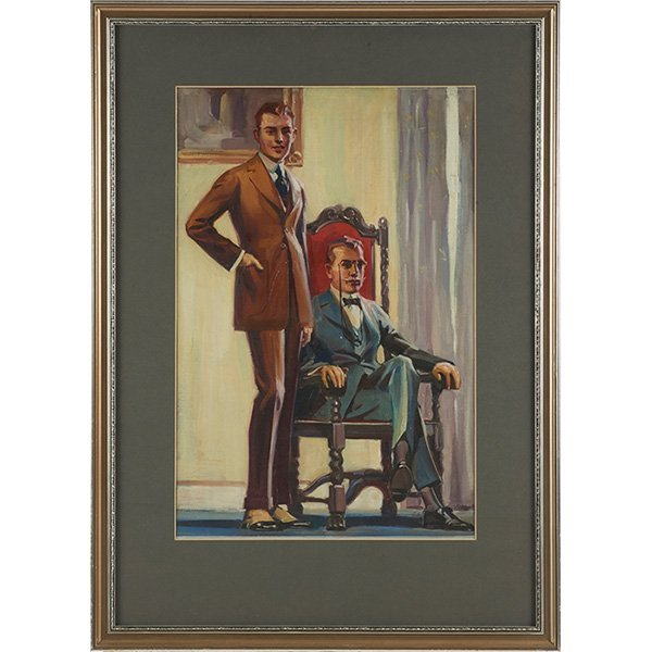 Louis Frederick Grell, (American, 1887-1960), Portait