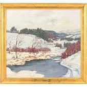 John Modesitt, (American, b. 1955), First Snow, oil on