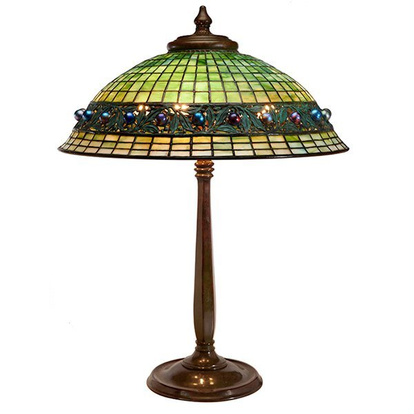 Tiffany Studios Geometric Jewel table lamp, base #532