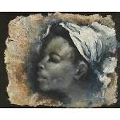 Lionel Laurenceau, (Haitian, 20th century), Portrait of