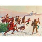 Paul Strayer, (American, 1885-1981), Christmas Cheer