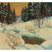 Carl Rudolph Krafft, (American, 1884-1938), Winter