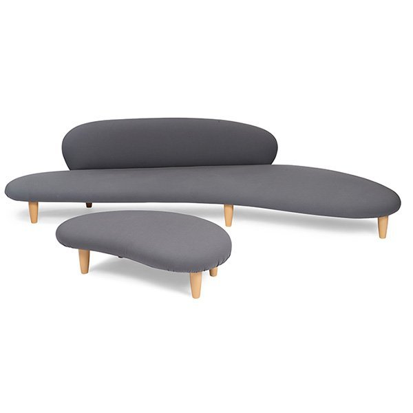 Noguchi for Vitra Freeform sofa and ottoman
