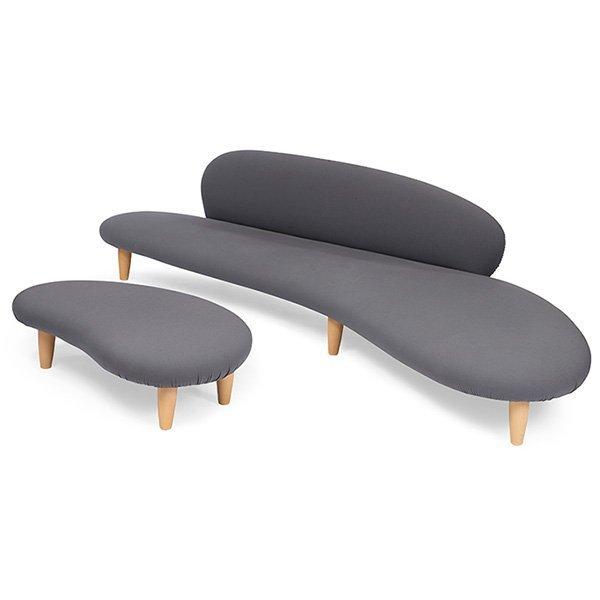 Isamu Noguchi for Vitra Freeform sofa and ottoman, - 2