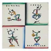 Gio Ponti for Richard Ginori Commedia dell'Arte tile 5