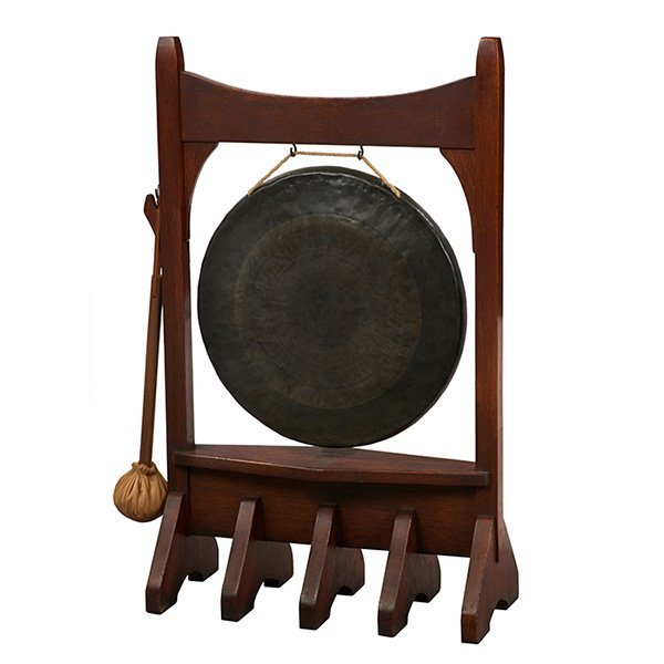 Gustav Stickley, dinner gong, Eastwood, NY