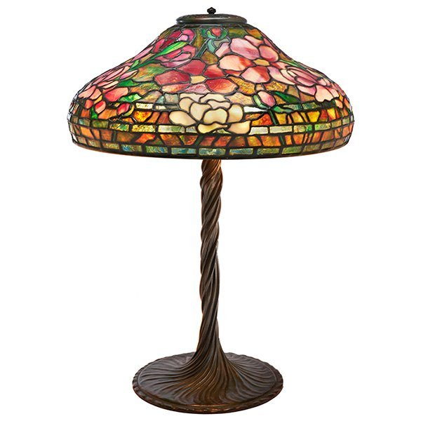 Tiffany Studios, Peony table lamp, base #443, New York,
