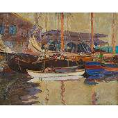 Jane Peterson American 18761965 Boats in a