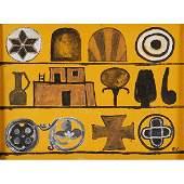 Bernard Williams, (American, b. 1964), Kiva, 2003, oil