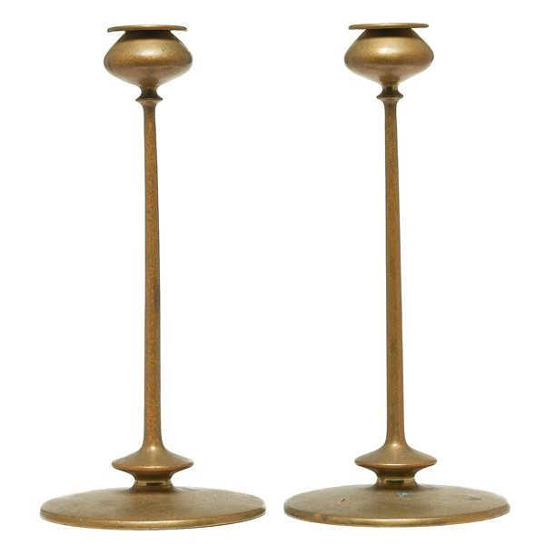 002: Jarvie candlesticks, beautifully matched pair