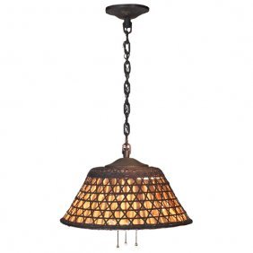Unusual Gustav Stickley Chandelier, #91