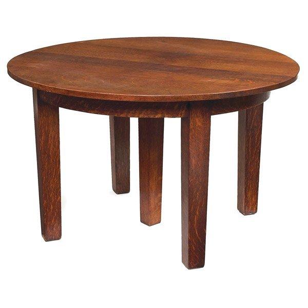 017: Gustav Stickley dining table, #652