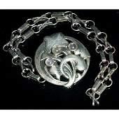 442 Unusual Kalo necklace sterling silver