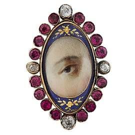 Lover's Eye 19th century brooch