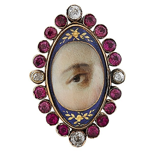 Lover's Eye 19th century brooch