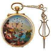 Reuge Romance No. 188 erotic musical pocket watch