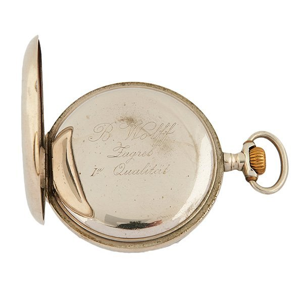 Swiss Count Dracula erotic open face pocket watch - 2