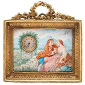 Continental erotic automaton picture clock