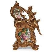 Rococo Style erotic automaton boudoir clock