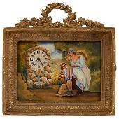 Continental Couple in the Park erotic picture clock