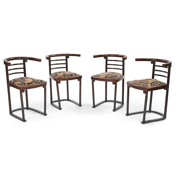 Josef Hoffman (1870 1956) For Thonet Fledermaus Chairs,