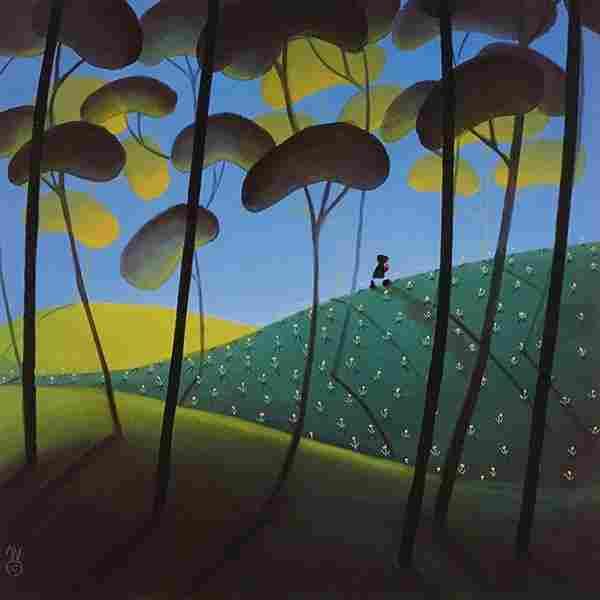 Mackenzie Thorpe, (British, b. 1956), Spring, Summer,