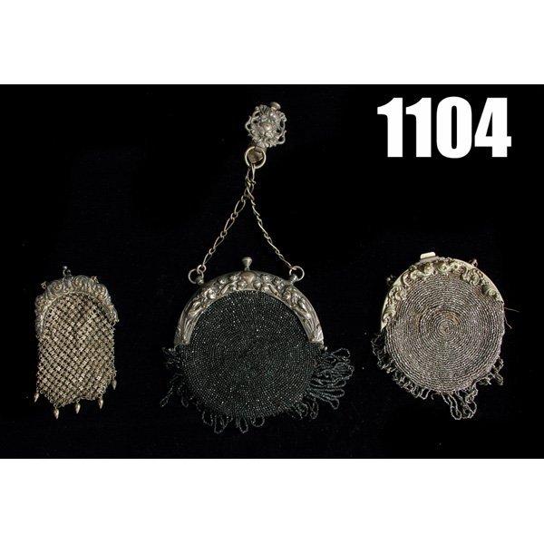 1104: Vintage Purses, lot of three