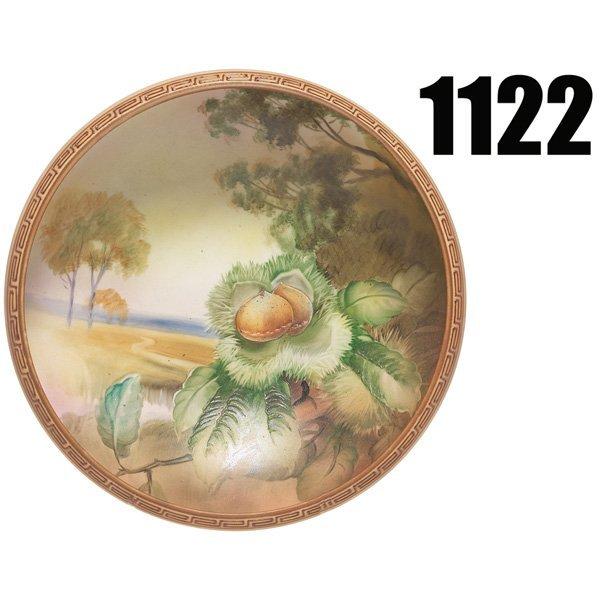 1122: Nippon bowl, interior hand-painted