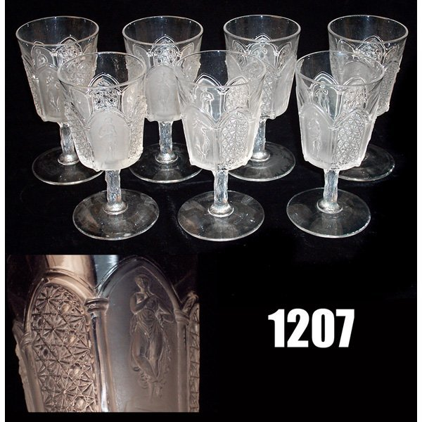 1207: Classic wine glasses, set of twelve, three classi