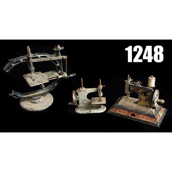 1248: Child's Sewing machines, lot of three
