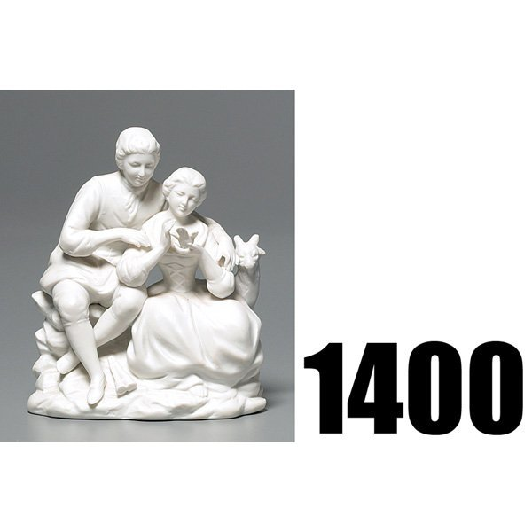 1400: Parian Ware figurine, man and woman