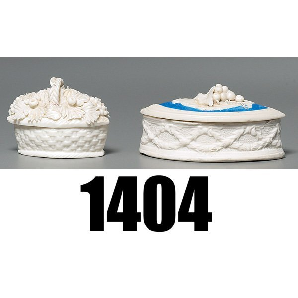 1404: Parian Ware covered vessel
