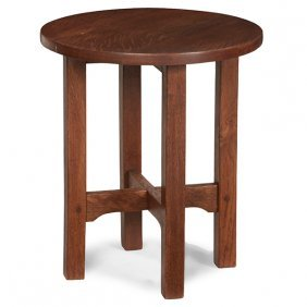 "Gustav Stickley Tabouret, #601 14""dia X 16""h"