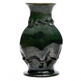"""George Ohr (1857-1918) Vase 4""""dia X 6.5""""h"""