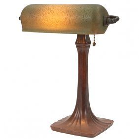 The Handel Lamp Company Mosserine Desk Lamp, #6028